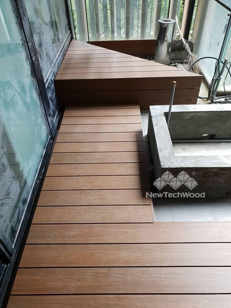 文山區─景觀露臺:  露臺 by 新綠境實業有限公司