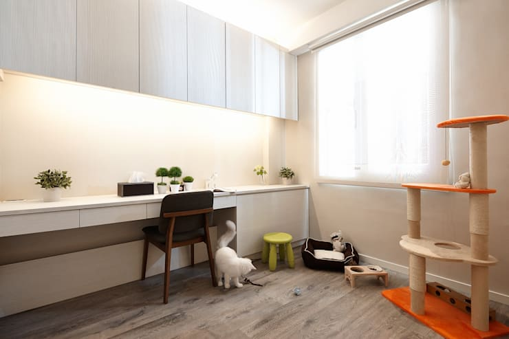 遊憩:  書房/辦公室 by 耀昀創意設計有限公司/Alfonso Ideas