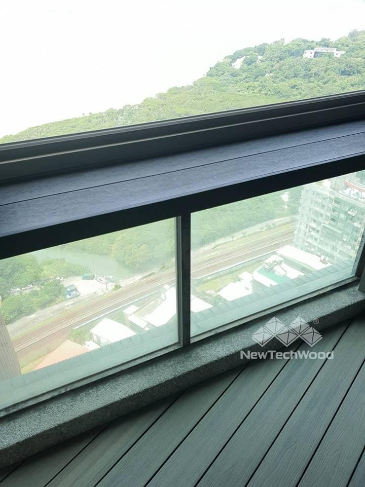 淡水─海帝溫泉社區:  露臺 by 新綠境實業有限公司