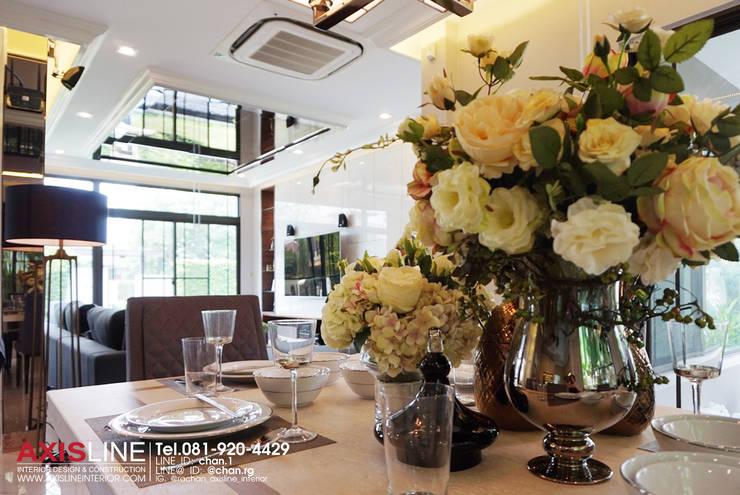 dining area (โซนรับประทานอาหาร):  ตกแต่งภายใน by บริษัทแอคซิสลาย จำกัด