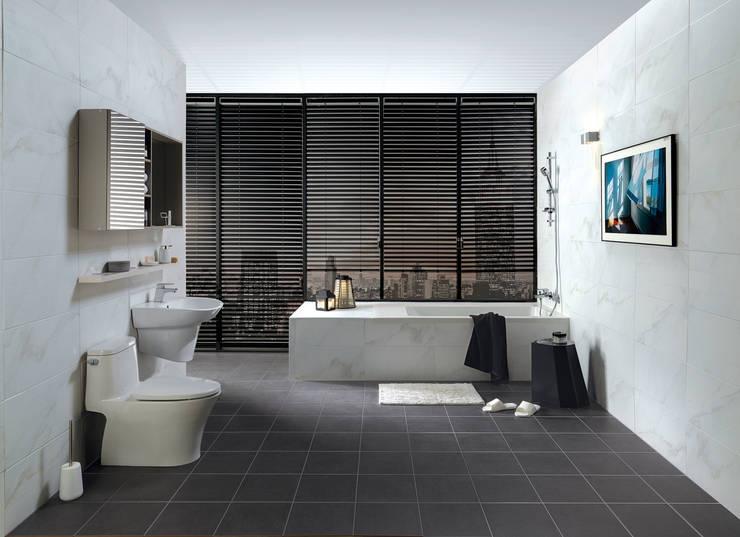 이누스바스 부띠끄마블 욕실 인테리어: inus의  욕실,모던