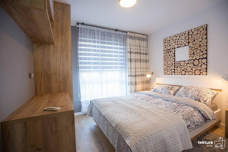 Mieszkanie Płock Nowoczesna sypialnia od Tektura Studio Katarzyna Denst Nowoczesny