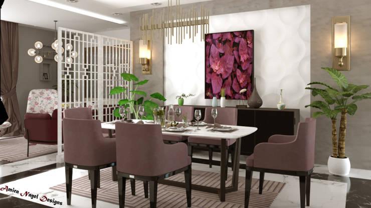 Dining room by AmiraNayelDesigns, Modern