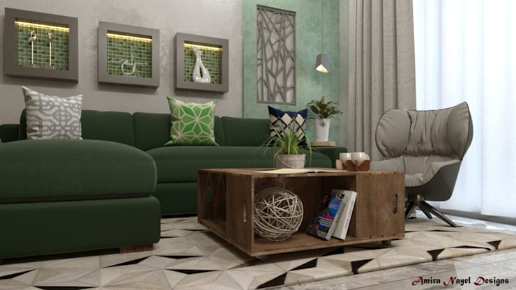 Living room by AmiraNayelDesigns