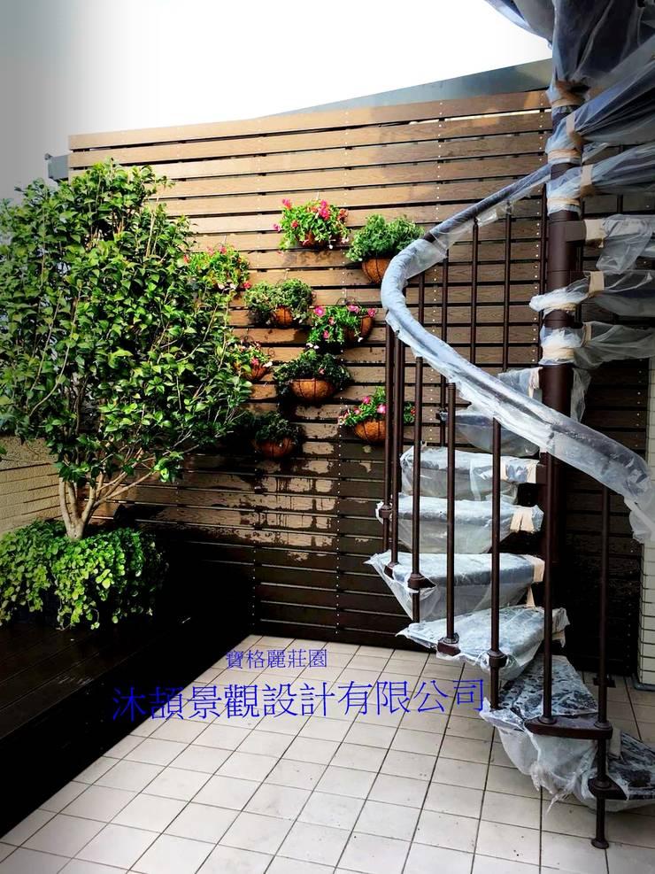 寶格麗莊園景觀  A47戶 空中花園景觀:   by 沐頡景觀設計公司