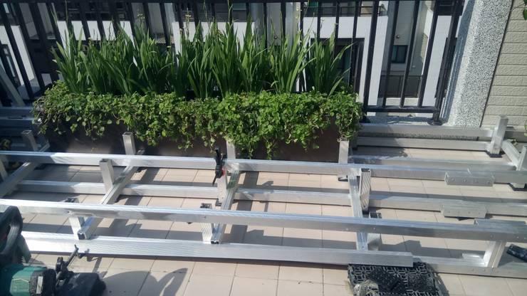 寶格麗莊園景觀  A47戶 空中花園景觀 施工中:   by 沐頡景觀設計公司