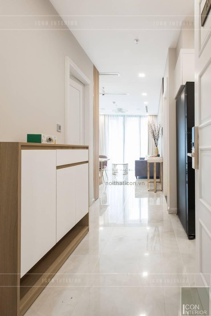 Thi công nội thất căn hộ Aqua 1 Vinhomes Golden River – Phong cách hiện đại:  Cửa ra vào by ICON INTERIOR