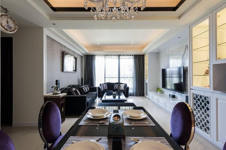 餐廳+客廳:  餐廳 by 鼎士達室內裝修企劃
