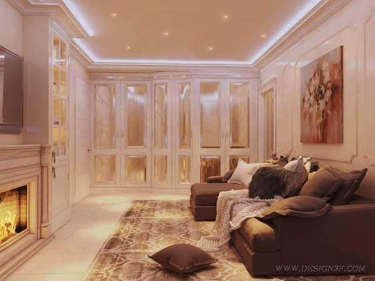 Klassieke woonkamers van студия Design3F Klassiek