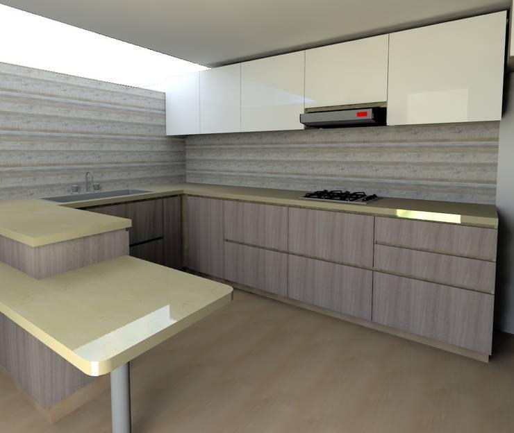 Cocina Casa Peña: Cocina de estilo  por QBICUS SAS