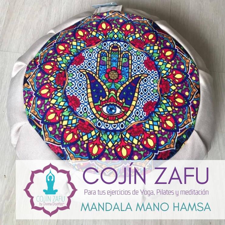 Cojín Zafu Mano Hamsa para meditación y Yoga : Spa de estilo clásico por Divina Diseños Decoración