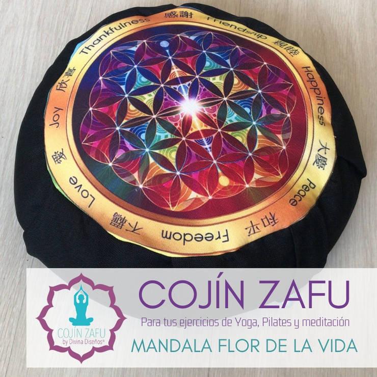Cojín Zafu Mano Hamsa para Meditación y Yoga :  de estilo  por Divina Diseños Decoración