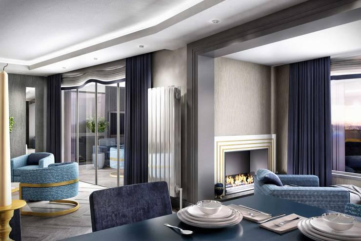ANTE MİMARLIK  – Balkon tasarım:  tarz Yemek Odası