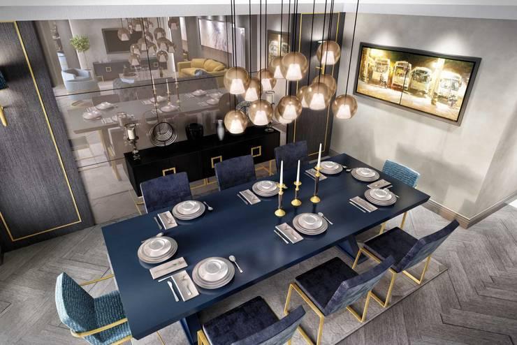 ANTE MİMARLIK  – Aynalar:  tarz Yemek Odası