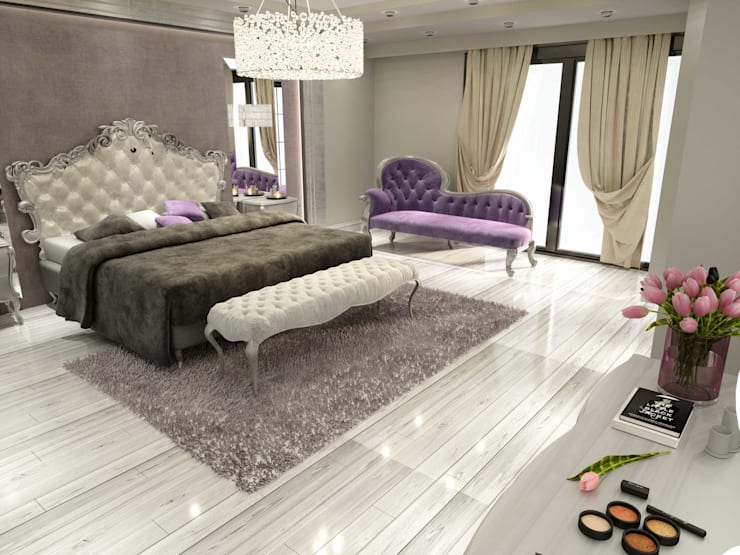 ANTE MİMARLIK  – Yatak odası tasarım:  tarz Yatak Odası