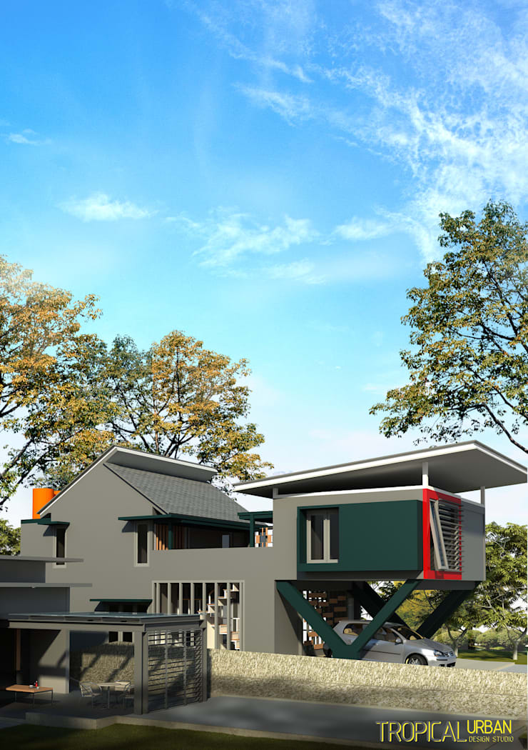 B. Rumah Bp.Kurniawan:   by Tropical Urban Design Studio