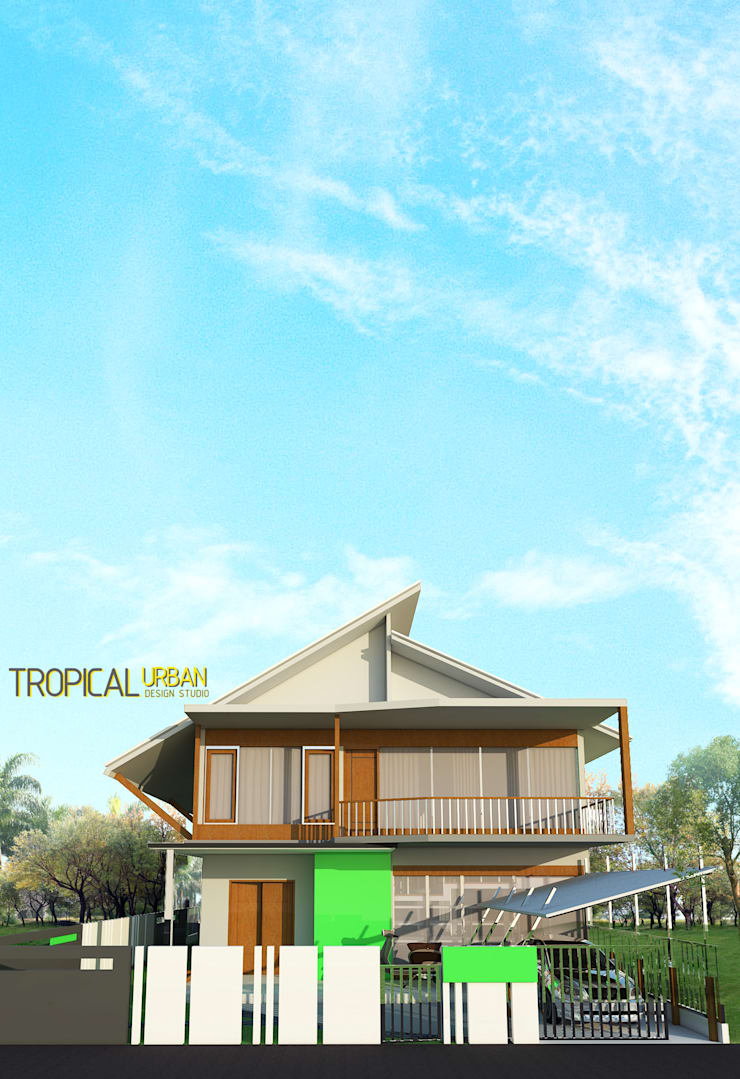 D. Rumah Bp. Faidzin:   by Tropical Urban Design Studio