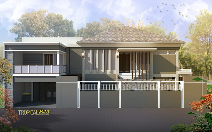 E. Rumah Bp. Agus Salim:   by Tropical Urban Design Studio