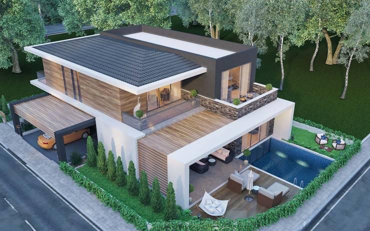 ANTE MİMARLIK  – Villa çatı:  tarz Villa