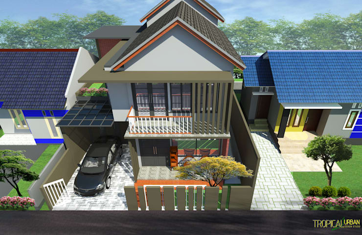Rumah Ibu Ari:   by Tropical Urban Design Studio