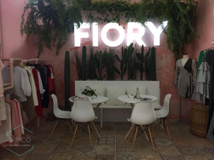 Stand Colombiamoda textiles 2 - 2018: Espacios comerciales de estilo  por Decó ambientes a la medida