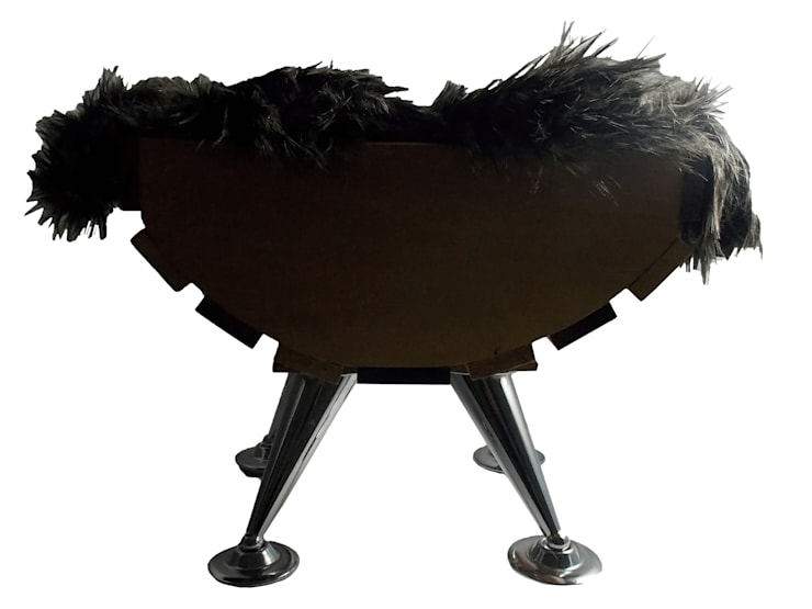 CAMA NÓRDICA:  de estilo  por maskkotto, Escandinavo Madera Acabado en madera