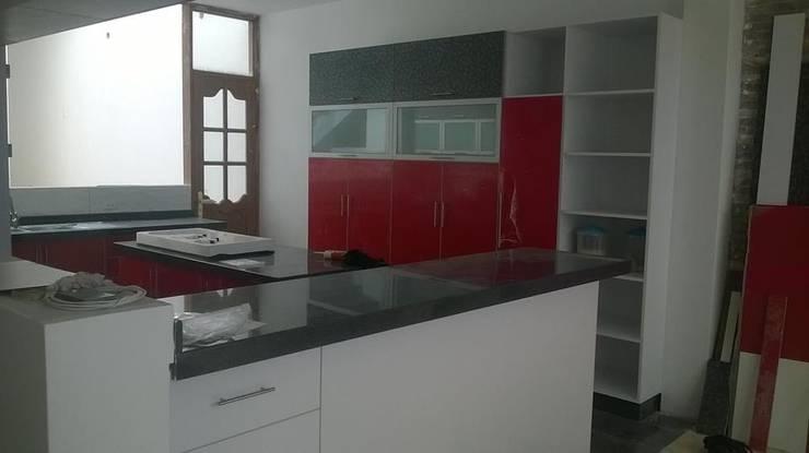 Cocina : Muebles de cocinas de estilo  por ARDI Arquitectura y servicios, Moderno Aglomerado