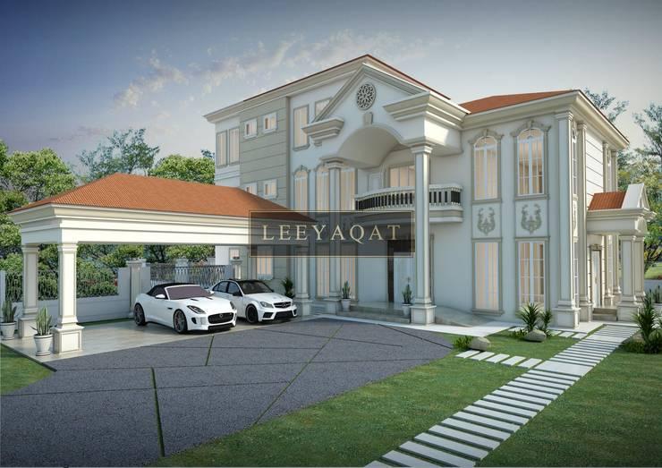 3D Exterior:  Rumah tinggal  by PT. Leeyaqat Karya Pratama