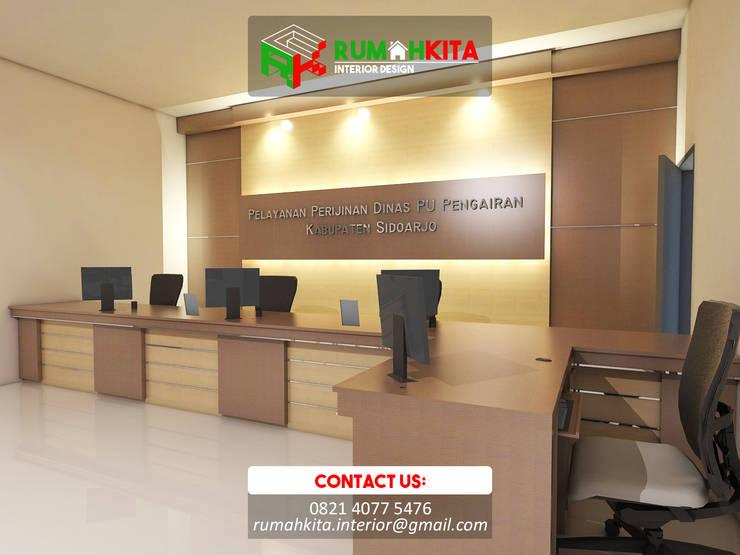 Interior Kantor | Dinas Pengairan Sidoarjo:  Study/office by RumahKita Interior