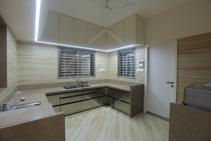 HMC—HIS MASTERS CHOICE :  Kitchen units by SPACCE INTERIORS