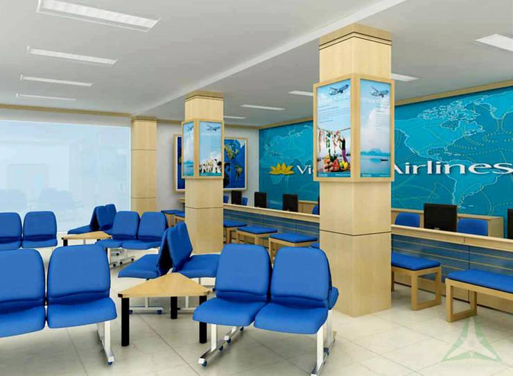 PHÒNG VÉ VIETNAM AIRLINES:  Văn phòng & cửa hàng by CÔNG TY TNHH SXTM DV & TRANG TRÍ NỘI THẤT VĂN NAM
