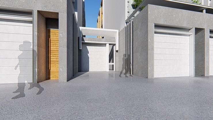 理境 社區戶入口:  房子 by 尋樸建築師事務所