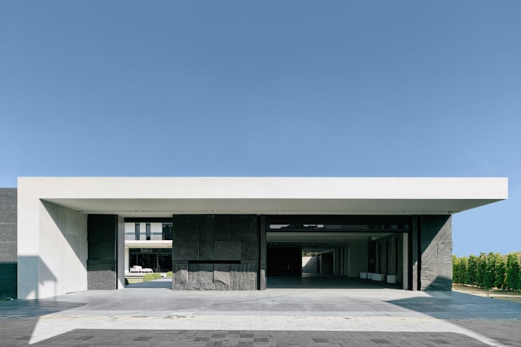 Rumah pedesaan oleh HJF建築室內設計  Ho Jia-fu Interior Design Co., Ltd., Modern Batu Tulis