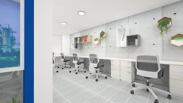 Diseño de oficinas: Oficinas y Tiendas de estilo  por Dies diseño de espacios