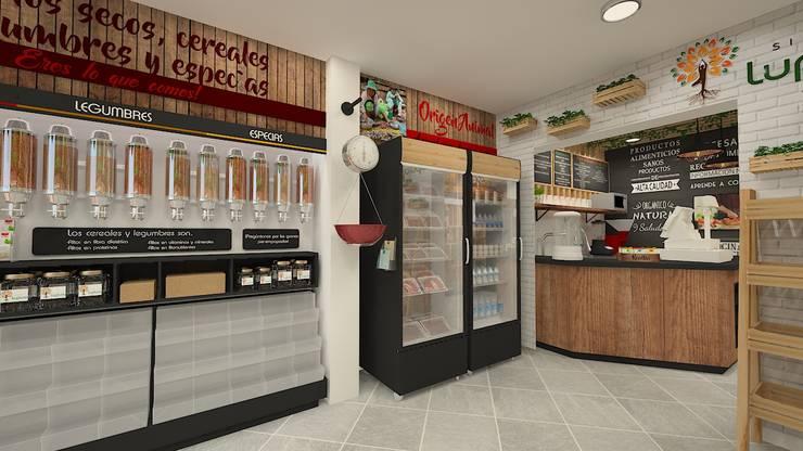 Diseño de oficinas:  de estilo  por Dies diseño de espacios, Rústico