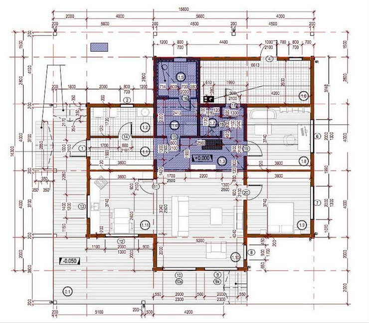 Projekty,  Chata z okrąglaków zaprojektowane przez THULE Blockhaus GmbH - Ihr Fertigbausatz für ein Holzhaus