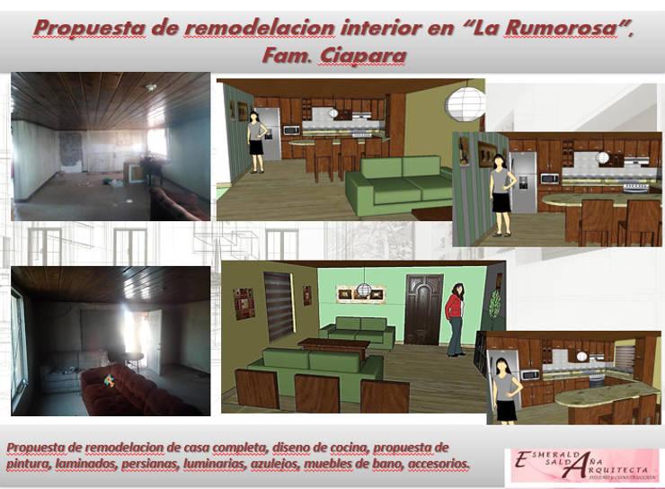 REMODELACION CASAS MEXICALI : Casas de estilo  por Arquitectura, Diseño y Construcción