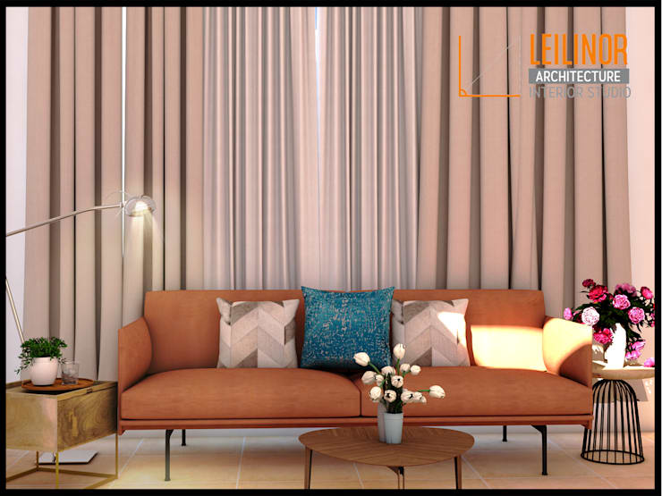 Living Room Design:  Ruang Keluarga by CV Leilinor Architect