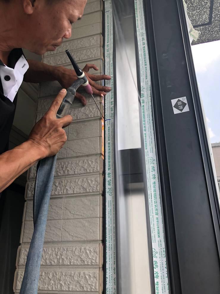 焊接外框:   by 鵝牌氣密窗-台中直營店