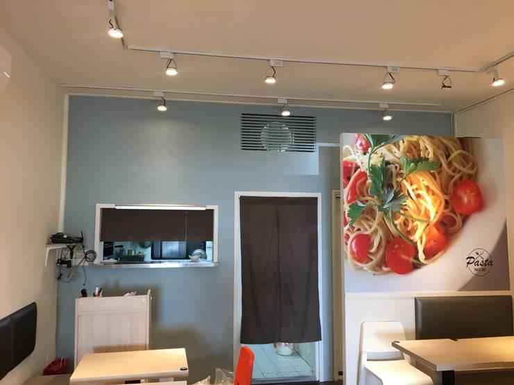 義大利麵NO.30設計案 快速、專業、商空配置:  餐廳 by 捷士空間設計(省錢裝潢)