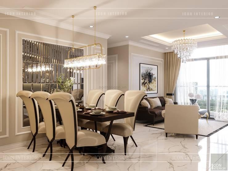 Phong cách Tân Cổ Điển trong thiết kế nội thất căn hộ Vinhomes :  Phòng ăn by ICON INTERIOR