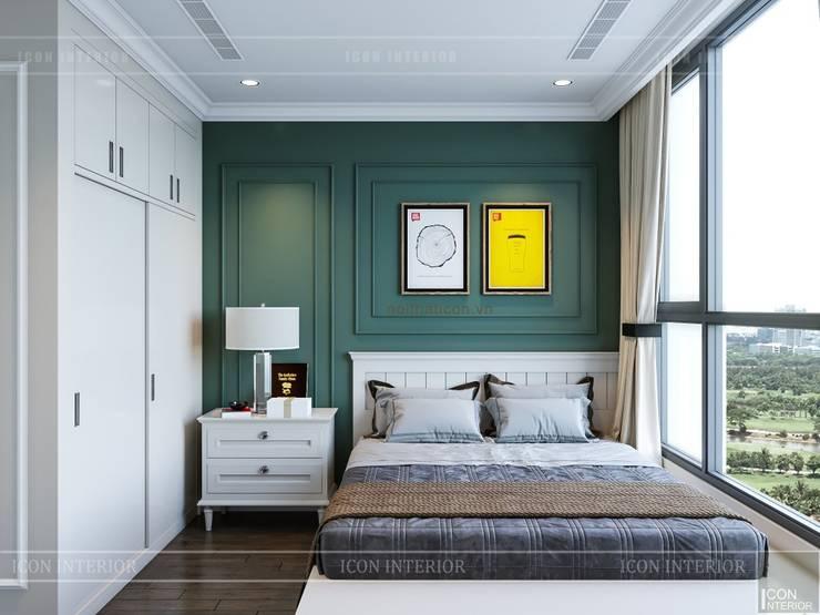 Phong cách Tân Cổ Điển trong thiết kế nội thất căn hộ Vinhomes :  Phòng ngủ by ICON INTERIOR