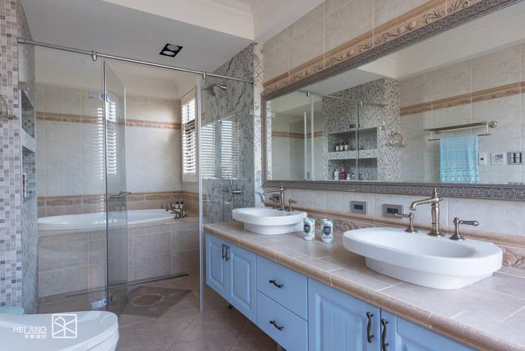 主浴室:  浴室 by 禾廊室內設計