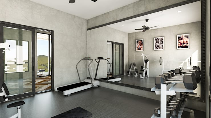 Area Gym:  Ruang Fitness by PT. Leeyaqat Karya Pratama