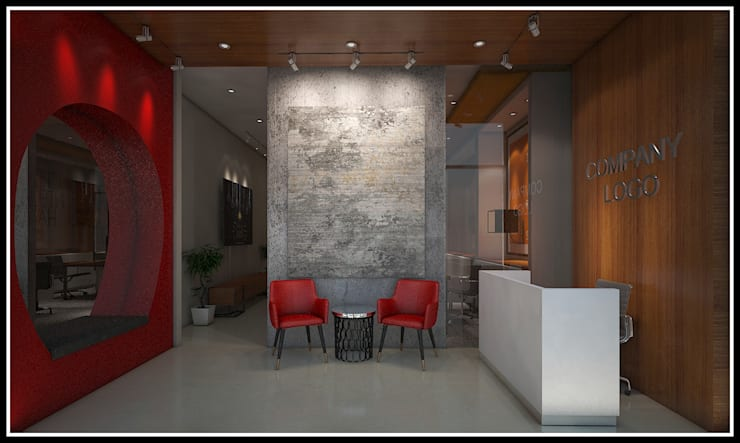 Receptionis Kantor:  Kantor & toko by Q Interior & Arch