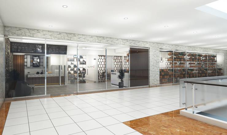 Brico Share Office :  Gedung perkantoran by Desain Konstruksi Arsitektur