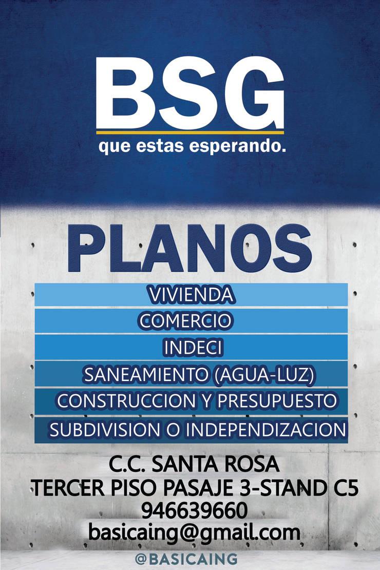 PLANOS de BSG Ingeniería Arquitectura y Construcción