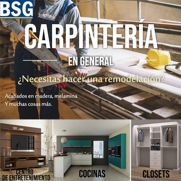 CARPINTERIA DE MADERA:  de estilo  por BSG Ingeniería Arquitectura y Construcción