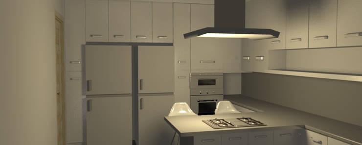 Cocina Minimalista: Muebles de cocinas de estilo  por Minimalistika.com,