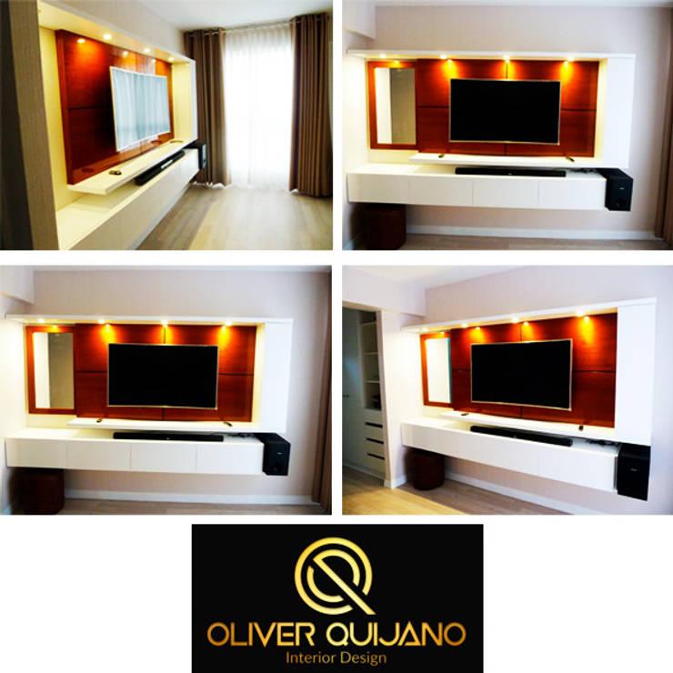 Mueble tv - dormitorio principal: Dormitorios de estilo  por DIS.OLIVER QUIJANO